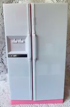 Barbie  Doll  White  Side  by  Side  Fridge     Freezer  with  35  pieces