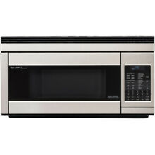 Sharp R1874T 1 1 CF 850 Watt OTR Convection Microwave  Stainless