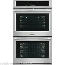 Frigidaire GALLERY Stainless Steel 30  Electric Double Wall Oven FGET3065PF