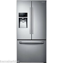 SAMSUNG Stainless Steel French Door 33  Wide Refrigerator 26 CuFt RF26J7500SR