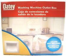 Oatey  Washing Machine Outlet Box   WHITE   VALVES NOT INCLUDED     X T