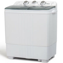 Dual Washing Machine Spin   Dryer Twin Tub Portable RV Top Load 5KG Compact HD