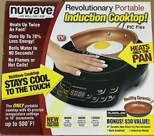 NEW NuWave 2 Piece Precision Portable Induction Cooktop with 9  Ceramic Pan