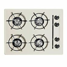 Summit 24  Cooktop in Bisque with Four Burners and Gas spark Ignition