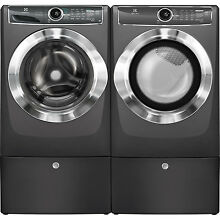 Electrolux Titanium Washer  Electric Dryer   Pedestals EFLS617STT   EFME617STT