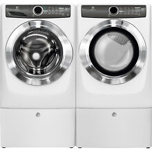 Electrolux White Washer  Electric Dryer   Pedestals EFLS517SIW   EFME517SIW
