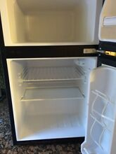 Silver and Black Emerson Compact Refridgerator