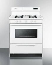 Summit 30  Dexlue Gas Range with Electronic Ignition   White