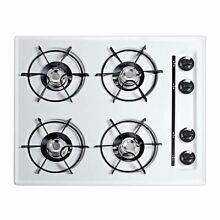 Summit 24  Gas Cooktop with Four Burners   Battery Ignition   White
