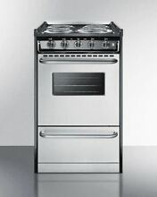 Summit 20  Electric Pro Style Range in Stainless S  TEM110BRWY