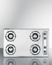 Summit 30  Gas Cooktop with Four Burners   Gas Spark Ignition   Chrome