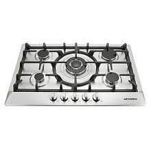 Brand New 30  Stainless Steel 5 Burner Built In Stoves NG LPG Gas Cooktop Cooker