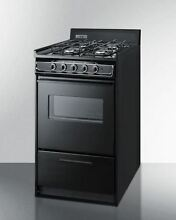 20  wide gas range in black oven window and electronic ignition