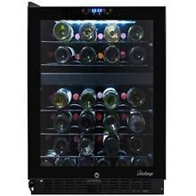 VINT VT46TS2Z Vinotemp 46 Bottle Dual Zone Touch Screen Wine Cooler  Black