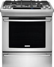 Electrolux Wave Touch 30  Stainless Steel Slide in Gas Range EW30GS80RS