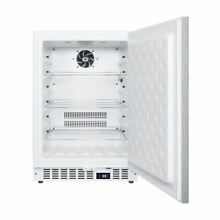 Summit SCFF52WXSSHH Built In Undercounter All Freezer   White Cabinet