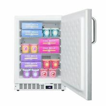 Summit SCFF52WXSSTB Built In Undercounter All Freezer   White Cabinet