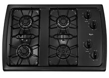 New 4 Burner Kitchen Oven Top Gas Cooktop Black Common  30 in  Actual  31 438 in