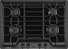 Frigidaire 30  30 inch Black Gas Cooktop with 4 Sealed Burners FFGC3010QB