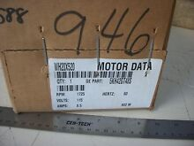 General Electric WH20X520 Washing Machine Motor  115 volt  1 2 hp