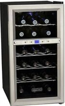 Free Standing Bottle Wine Cooler With Dual Thermo Electric Cooling Zones New