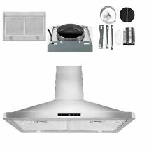 AKDY 30  inch Stainless Steel Under Wall mount Range Hood Digital Tocuh LED