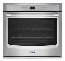 Maytag 27 inch Stainless Steel Single Electric Wall Oven Convection MEW9527DS