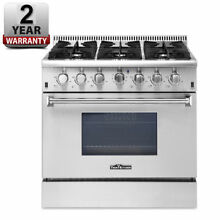 Gas Range 36  Thor Kitchen HRG3618U Professional Stainless Steel w  6 Burners