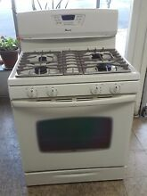 Amana stove  gas stove  white color   30  x 47    used