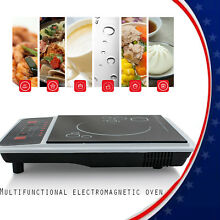 US Digital Electric Induction Cooktop Countertop Burner Cooker Caravans Cookware