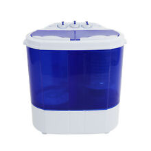 6 6lbs Portable Counter Compact Washer Washing Machine Semi automatic Twin Tube