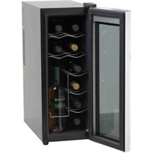 12 Bottle Thermoelectric Countertop Wine Cooler Fridge Bar Home Kitchen Black