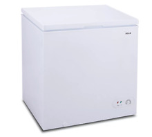 Compact Chest Freezer Upright Top Door Food Storage with Basket  5 2 cu ft White