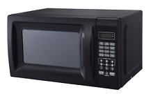 Small Microwave Low Profile Compact Countertop Black College Dorm Oven For Adult