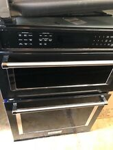 KitchenAid 30  Black with Built In Microwave Combination Oven   KOCE500EBL