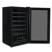 34 Bottle Chiller Wine Cooler Refrigerator Counter Top Champagne White Red Dark