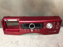SAMSUNG WASHER CONTROL PANEL FACE PLATE DC64 01360A RED