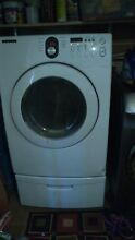 Gently Used White Samsung Dryer with pedestal