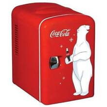 Portable Coca Cola Mini 6 Can Refrigerator Beverage Fridge Personal Fridge