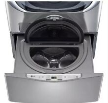 LG SideKick WD200CV 1 0CF 6 Cycle High Efficiency Pedestal Washer Graphite Steel