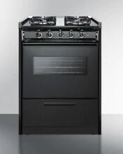 24  Black Wide SlideIn Gas Range w Sealed Burners   Oven Window