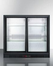 7 4 cu ft  Commercial Beverage Cooler with Sliding Glass Doors