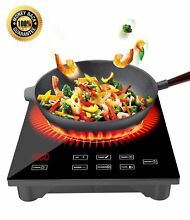 1800W Portable Induction Cooktop with Ceramic Glass Plate Design Countertop with