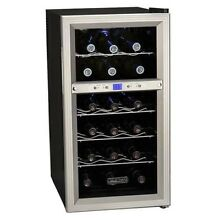 Wine Cooler Electric Refrigerator Free Standing Bottle Dual Thermo Cooling Zones