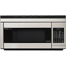 Sharp R1874T 850W Over the Range Convection Microwave  1 1 Cubic Feet  Stainl