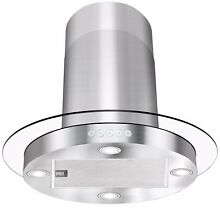 30  Island Mount Stainless Steel Tempered Glass Kitchen Range Hood Y RH0052 209