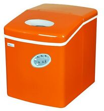 Countertop Ice Maker Portable Machine 3 Cube Size 28 lbs per Day Orange