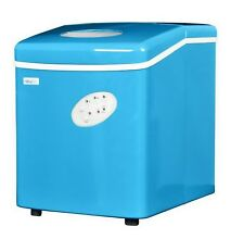 Portable Ice Maker Counter Top Machine 3 Cube Size 28 lbs per Day Blue