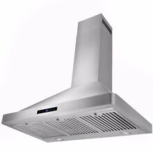 European Stainless Steel 36  Wall Mount Range Hood LED Touch Control Y RH0285