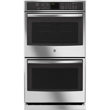 GE Profile Self Cleaning True Convection Double Electric Wall Oven  Stainless St